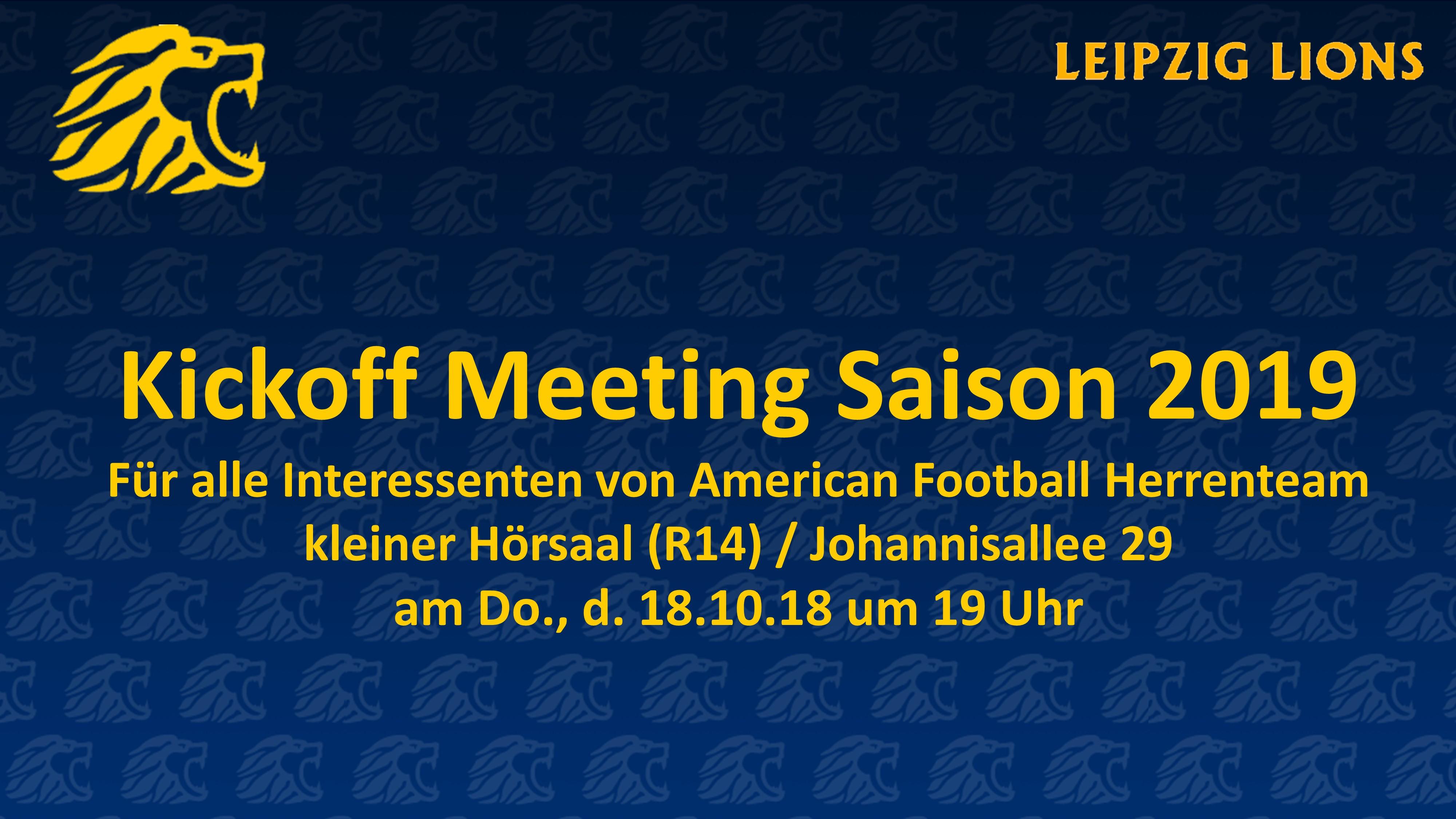 2018-10-18 – KickOff Meeting Herren