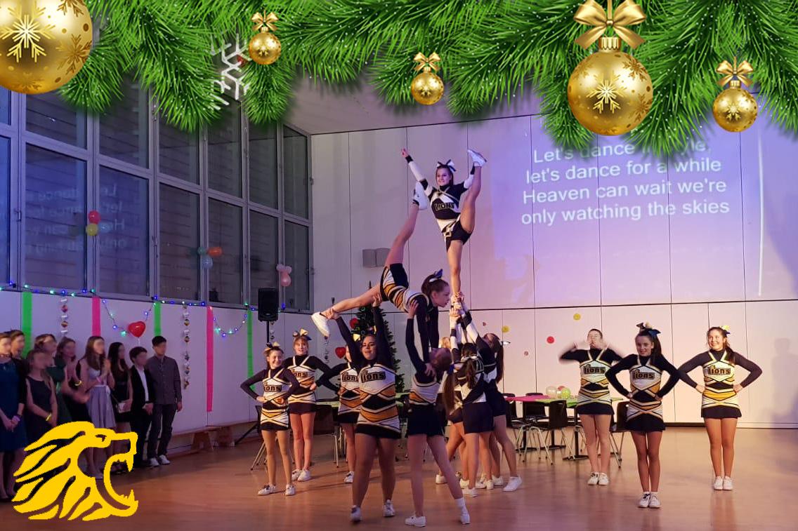 Weihnachtsgruß Cheerleading Kopie